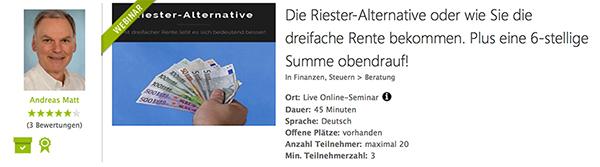 Webinar Riester-Alternative